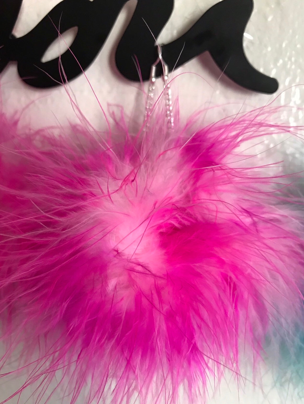 Candy Pink fluffy earrings