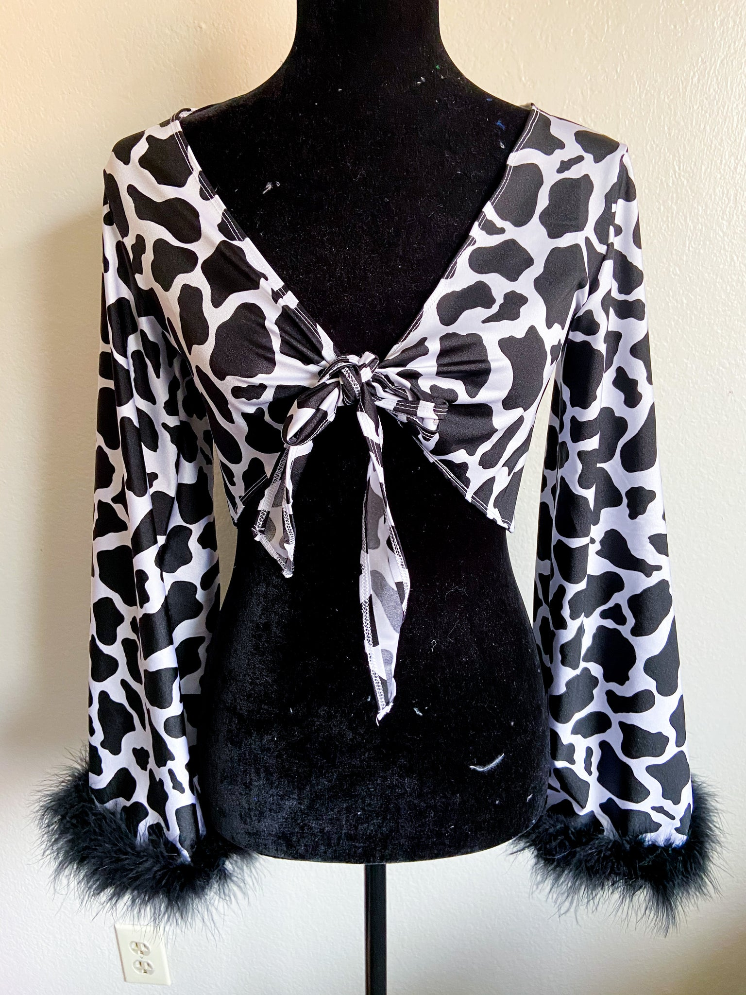 Cow bell sleeve top