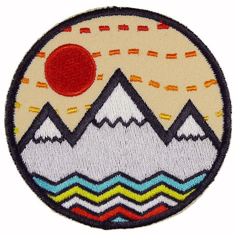 Round Vibe Mountain Patch