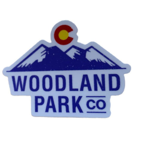 Woodland Park Cut-Out Stickers (White)