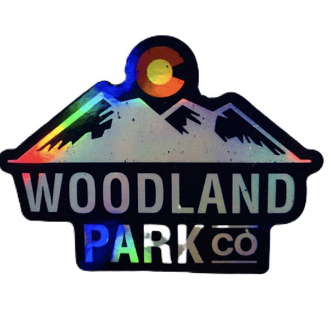 Woodland Park Cut-Out Sticker (Holographic Blue)