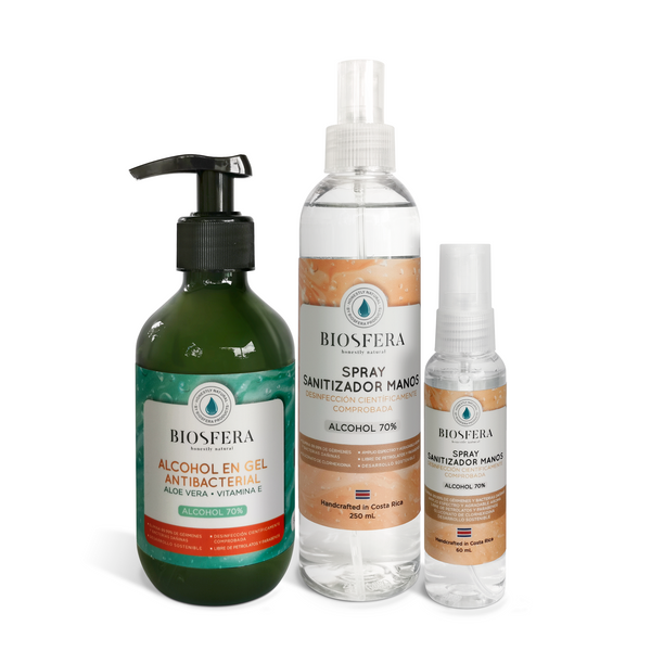 Kit Antibacterial Manos (Alcohol Gel & Spray)
