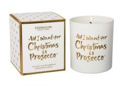 All I Want For Christmas Is Prosecco Tumbler Candle