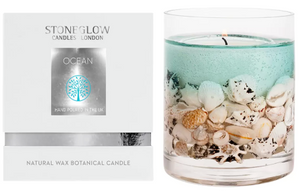 Nature's Gift Ocean Natural Wax Gel Candle Vase with Gift Box