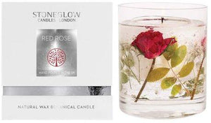 Nature's Gift Red Rose Natural Wax Gel Candle Vase with Gift Box