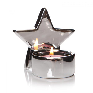 Silver Reflective Star Tealight Holder