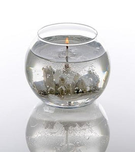 Snow Scene Fish Bowl Candle