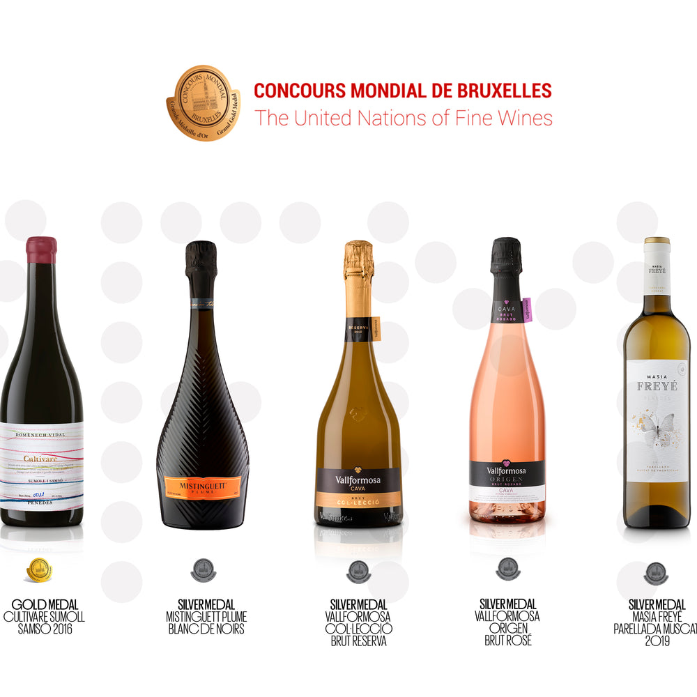 Vallformosa shines with five medals at the 'Mondial de Bruxelles Concours'