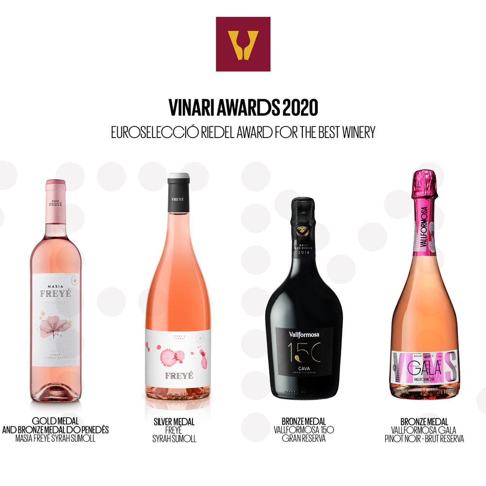 "Vallformosa won The ""best winery"" award With five medals at vinari 2020 awards"
