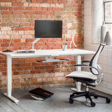 Float Cordless Height Adjustable Desk - White