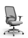 Paxton Task Chair - Grey Frame, Grey Mesh Backrest, Grey Upholstered Seat