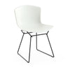 Knoll Bertoia Plastic Side Chair - Black Frame, White Shell