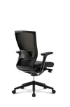 Sidiz T50 Performance Task Chair by Fursys - Black Structure, Black Mesh Backrest, Black Upholstered Seat