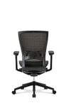 Sidiz T50 by Fursys - Black Structure, Black Mesh Backrest, Black Upholstered Seat