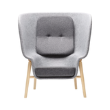 DeVorm Pod PET Felt Privacy Chair - Light Grey