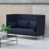 Silhouette Sofa High Back 2 seater - in Kvadrat Remix 783