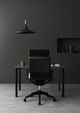 Home Office Package 1: Ferrum Study Desk & Memphis Task Chair (Dark Colour)