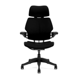 Home Office Package 3: Ovation Sit-stand Desk & Humanscale Freedom Chair with Headrest