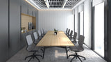 Memphis in a meeting room. Grey frame and grey mesh.