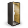 Mikomax Hush Phone Booth - Black Exterior with Yellow Interior