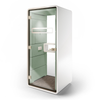 Mikomax Hush Phone Booth - White Exterior with Mint Green Interior