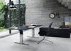 Walter Knoll FK Conference Chair - High Back, Black Leather, Polished 3 Star Swivel Base