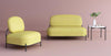 Seoul Sofa 2 Seater- Yellow Fabric