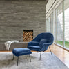 Knoll Saarinen Womb Chair with Ottoman - Black Iris