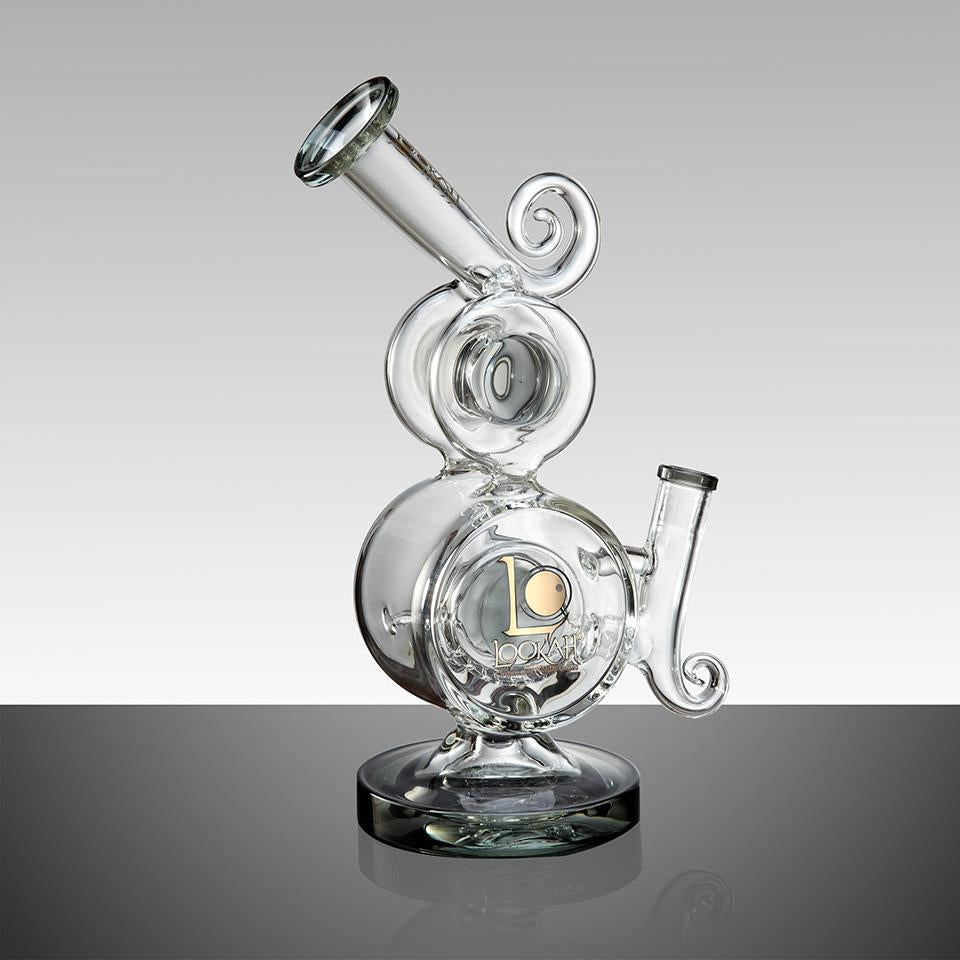 "WPC736 10.3"" LOOKAH RECYCLE BENT NECK OIL RIG GLASS WATER PIPE - LOOKAHGLASS"