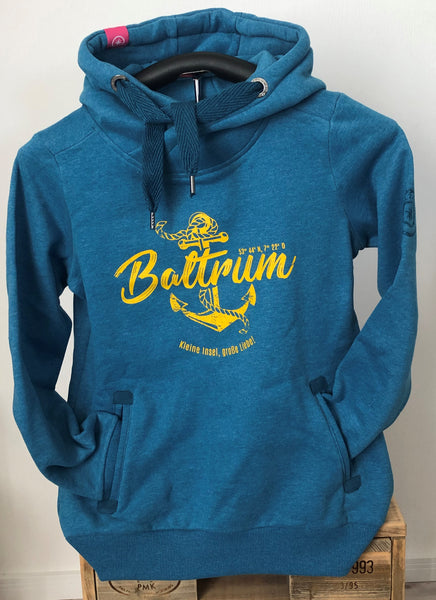 "Baltrum Damen Hoodie Anker Vintage ""in Seaport"""