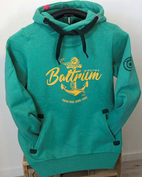 "Baltrum Damen Hoodie Anker Vintage ""in Mint"""