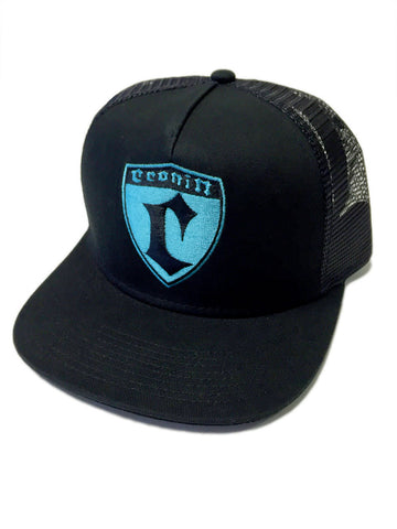 Cronin Shield Hat - Blk/Cyan