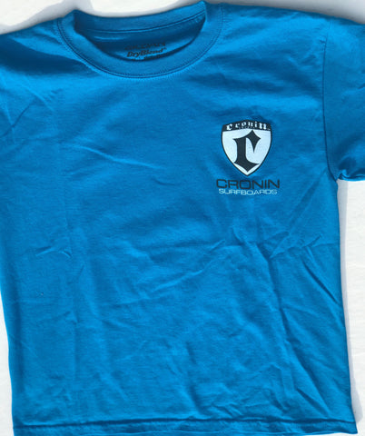 Medium blue Cronin shield T-shirt
