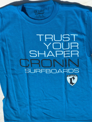 Large Trust your Shaper T-shirt blue