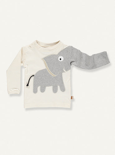 Baby Elephant Tee - Natural white