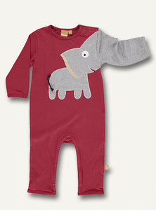 Baby Elephant onesie - Brick red - NEW!!