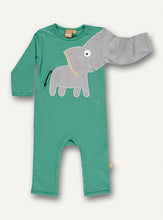 Load image into Gallery viewer, Baby Elephant onesie - Green - NEW!!