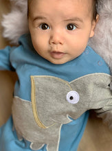 Load image into Gallery viewer, Baby Elephant onesie - Classic Blue