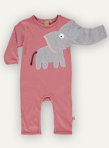 Baby Elephant onesie - Red soil