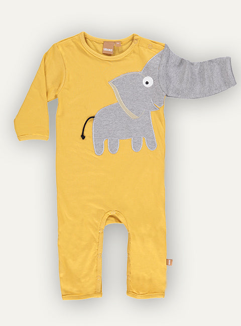 Baby Elephant onesie - Vintage Yellow - NEW!