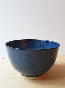 Hand thrown blue bowl