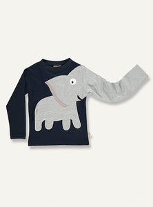 Elephant Tee - Dark blue