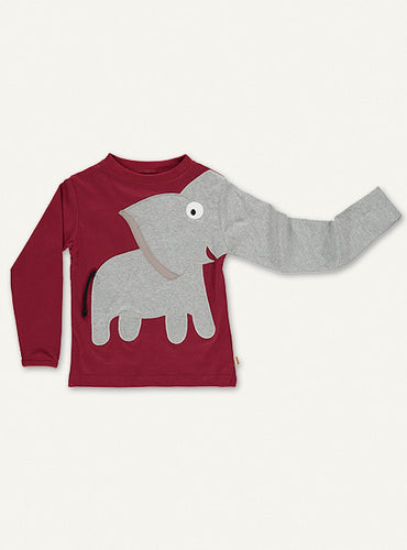 Elephant Tee - Dark red