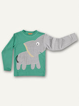 Load image into Gallery viewer, Elephant T-shirt - Green - NEW!!!