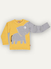 Load image into Gallery viewer, Elephant T-shirt Vintage yellow