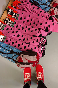 Lady bird socks - adult STOCK SALE