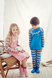 Sheep pajamas - sleepy blue - STOCK SALE
