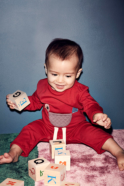 Baby Bird Onesie - Red - STOCK SALE