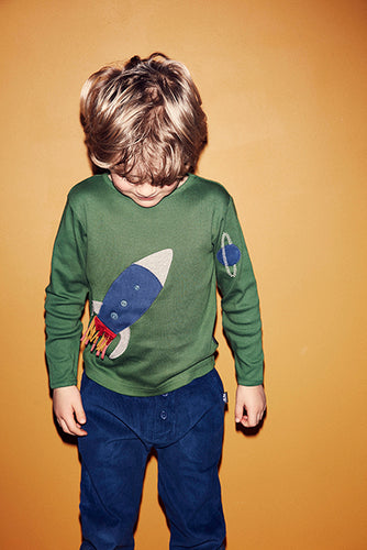 Rocket Tee - Hedge Green - STOCKSALE