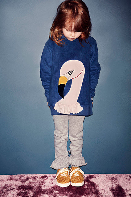 Flamingo Sweatshirt - Dark denim